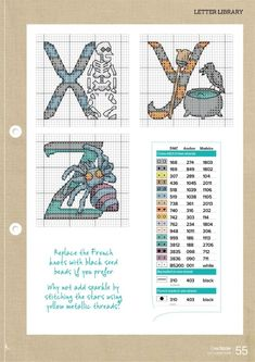 Cross Stitch Alphabet, Cross Stitch Embroidery, Halloween Cross Stitches, Bullet Journal, Letters, Plastic Canvas, Gallery, Monograms, Dots