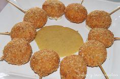 aperitivos de queso, `piruletas de queso, recetas para niños, Julia y sus recetas