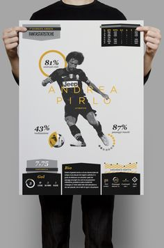 Football Serie A Infographic by Michele Lorenzo Crippa, via Behance #infographics