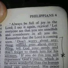 Worry less and pray more!