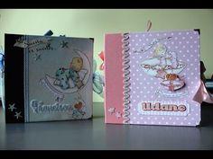 Álbum de fotos bebé personalizado IV Niño. Álbum bebé scrapbook. Regalo para bautizo o nacimiento - YouTube