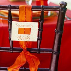 Orange + Brown Color Scheme    This bold color scheme is perfect for a bright and sophisticated fall wedding. Use orange for all of your accent pieces, such as flowers, ribbon touches, and table linens. A rich brown hue will be perfect for bridesmaid dresses and invitations. To add another touch of brown, rent beautiful wooden chairs.