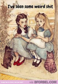 Alice and Dorothy start a support group #disney #movies