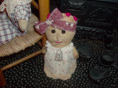 "Little Raggedy Stump Doll, original pattern and hand sewn by ""Cat"""