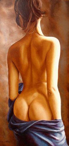 """Annick Bouvattier - """"La Chute"""", Oil on Canvas - Picture 8/10 is enlarge.."""