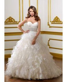 Ball Gown Wedding Dresses : Ball Gown Classic Ruffles Sweetheart Wedding Dress #weddingdress