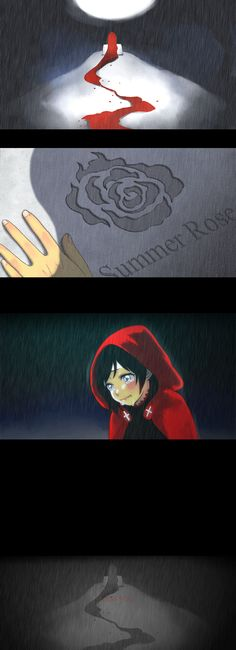 Ruby Rose in front of Grave
