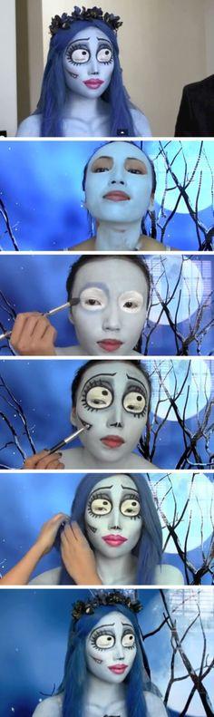 Creepy makeup for Halloween