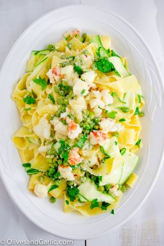 Creamy Lobster Pappardelle with Zucchini Ribbons