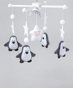 Look at this #zulilyfind! Gray Penguins Mobile by LincKids #zulilyfinds