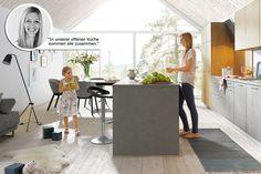 """""""In unserer offenen Küche kommen alle zusammen."""" - Blogbeitrag pro und contra offene Küche von Spitzhüttl Home Company."""
