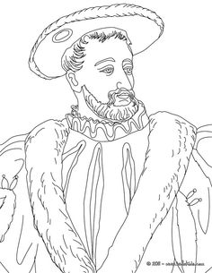 FRANCIS I King of France coloring page
