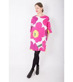 Marimekko Pink Unikko Dress, 44 - WST