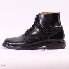 Vintage Men Boots / Black Leather Ankle Boots / by BetaPorHomme, $52.00