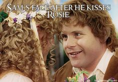 Sam's face after he kisses Rosie.