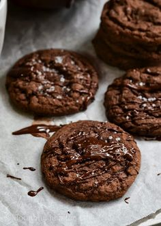 The moonblush Baker: Behind the baker /-/ Salted Quadruple Chocolate Chip Cookies