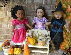 Bear, Dolly and Moi: dolls on Halloween