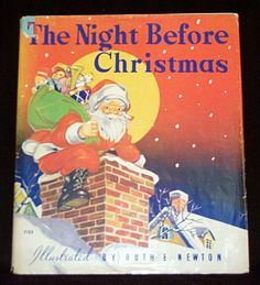 1937 Night Before Christmas Hardcover Book by Ruth Newton-Whitman