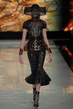 Look 10 from the Alexander McQueen Women's SS13 runway show