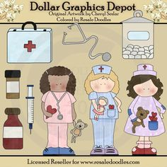 Get Well Nurses - $1.00 : Dollar Graphics Depot, Quality Graphics ~ Discount Prices