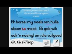 Learn to read, understand and pronounce Afrikaans words and sentences. This is an Afrikaans reading course for primary school students or anybody who wishes . Afrikaans Language, Reading Help, English Translation, Learn To Read, Primary School, Homework, Sentences, Curriculum, Student