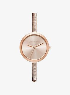 Blakely Pavé Rose Gold-Tone Watch by Michael Kors