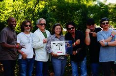 At their concert in Kettering, Ohio TOTO band members pose with Central & Southern Ohio Chapter Executive Director Marlin Seymour. Image courtesy of the Central & Southern Ohio Chapter.