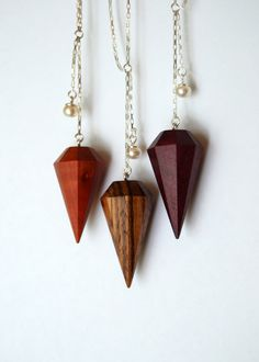 Zebrawood diamond necklace Light version by LucieVeilleux, via Etsy.