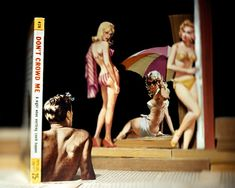 Thomas Allen Turns Tired Pulp Fiction Book Covers Into Pop-Up Sculptures Thomas Allen, Pulp Fiction Book, Pulp Novel, Ephemeral Art, Artistic Photography, Tabletop Photography, Amazing Photography, Landscape Photography, Cardboard Art