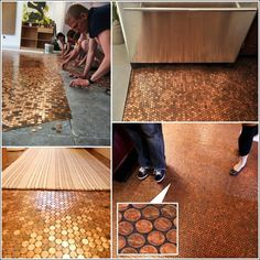 The best diy flooring ideas of pinterest pinterest pennies image source adetailedhouse to make this pennies floor first of all of course you need pennies then you will require some tile glue and epoxy resin solutioingenieria Choice Image
