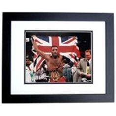 Real Deal Memorabilia LennoxLewis8x10-3BF Lennox Lewis Autographed Boxing 8 x 10 Photo - Black Custom Frame, As Shown