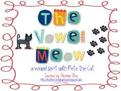 Vowel Meow (Pete The Cat)