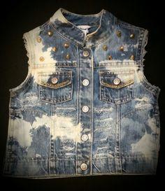 0c5b23ed455d Custom Distressed Denim Jacket Vest- Ripped Vest- Kids Birthday Vest- Baby  Girl- Baby Boy- Newborn- Infant- Toddler- Kids Fashion Clothes