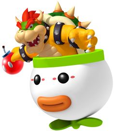 Here is a picture of Bowser in a Clown Car holding a Red Bob-Omb Super Mario Party, Super Mario Bros, Super Mario Kunst, Super Mario Games, Super Mario World, Super Mario Brothers, Super Smash Bros, Mario Wii, Mario E Luigi