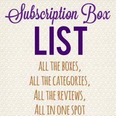 Subscription Box List & Directory - http://hellosubscription.com