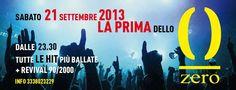 LA PRIMA DELLO ZERO- ZERO CLUB – CAGLIARI – SABATO 21 SETTEMBRE 2013