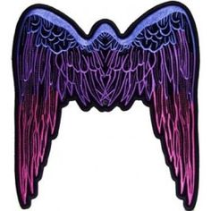 ANGEL WINGS PINK Embroidered Lady Motorcycle Chick MC Biker Vest Patch PAT-0089