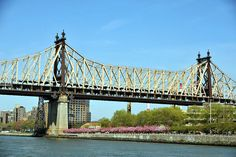 The Queensboro Bridge, also known as the 59th Street Bridge – because its Manhattan end is located between 59th and 60th Streets – and officially titled the Ed Koch Queensboro Bridge, is a cantilever bridge over the East River in New York City that was completed in 1909. It connects the neighborhood of Long Island City in the borough of Queens with Manhattan, passing over Roosevelt Island.