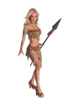 Jungle Jane Cave Woman Cavewoman Tarzan Adult Womens Sexy Halloween Costume #Halloween #costume www.loveitsomuch.com