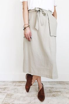 Sand Skirt with Ribbon Tie | ROOLEE