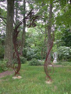Metal Obelisk Trellis - Ideas on Foter Obelisk Trellis, Garden Trellis, Garden Gates, Metal Gates, Metal Arch, Metal Pergola, Backyard Pergola, Pergola Kits, Sculpture Metal