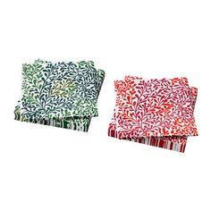 IKEA - VINTERFINT, Servilleta de papel, La servilleta tiene una gran capacidad de absorción gracias a las 3 capas de papel.