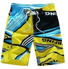 HANA+DORA Men Fashion Shorts Swim Trunks Beach Surfing Running Sport Pants