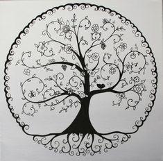 L'arbre de vie en N&B par Dessine-moi un prénom