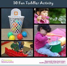 50 Fun Toddler activity to keep your angel busy!