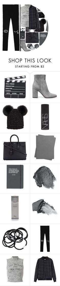 """""""tomorrow is Christmas eve!"""" by maevekaterina ❤ liked on Polyvore featuring Gianvito Rossi, Eugenia Kim, NARS Cosmetics, Yves Saint Laurent, Shinola, Topshop, Anna Sui, Christian Dior, H&M and Miss Selfridge"""