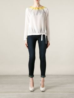 Moschino Cheap & Chic Blusa Branca - Johann The Concept Store - Farfetch.com