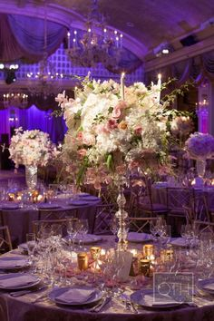 Beautiful floral arrangements by David Beahm Design