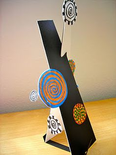 Hundertwasser meets Calder - really cool sculptures.