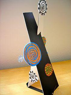 Hundertwasser meets Calder - really cool sculptures.